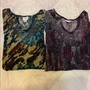 JACKLYN SMITH 1X multicolored Long sleeve shirts.